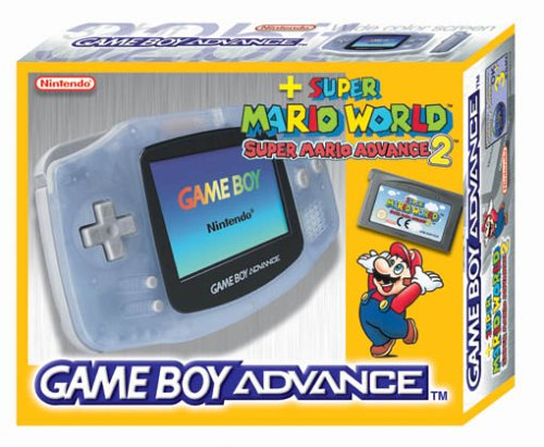 Nintendo Game Boy Advance Konsole inkl. Super Mario Advance 2 - Clear Blue