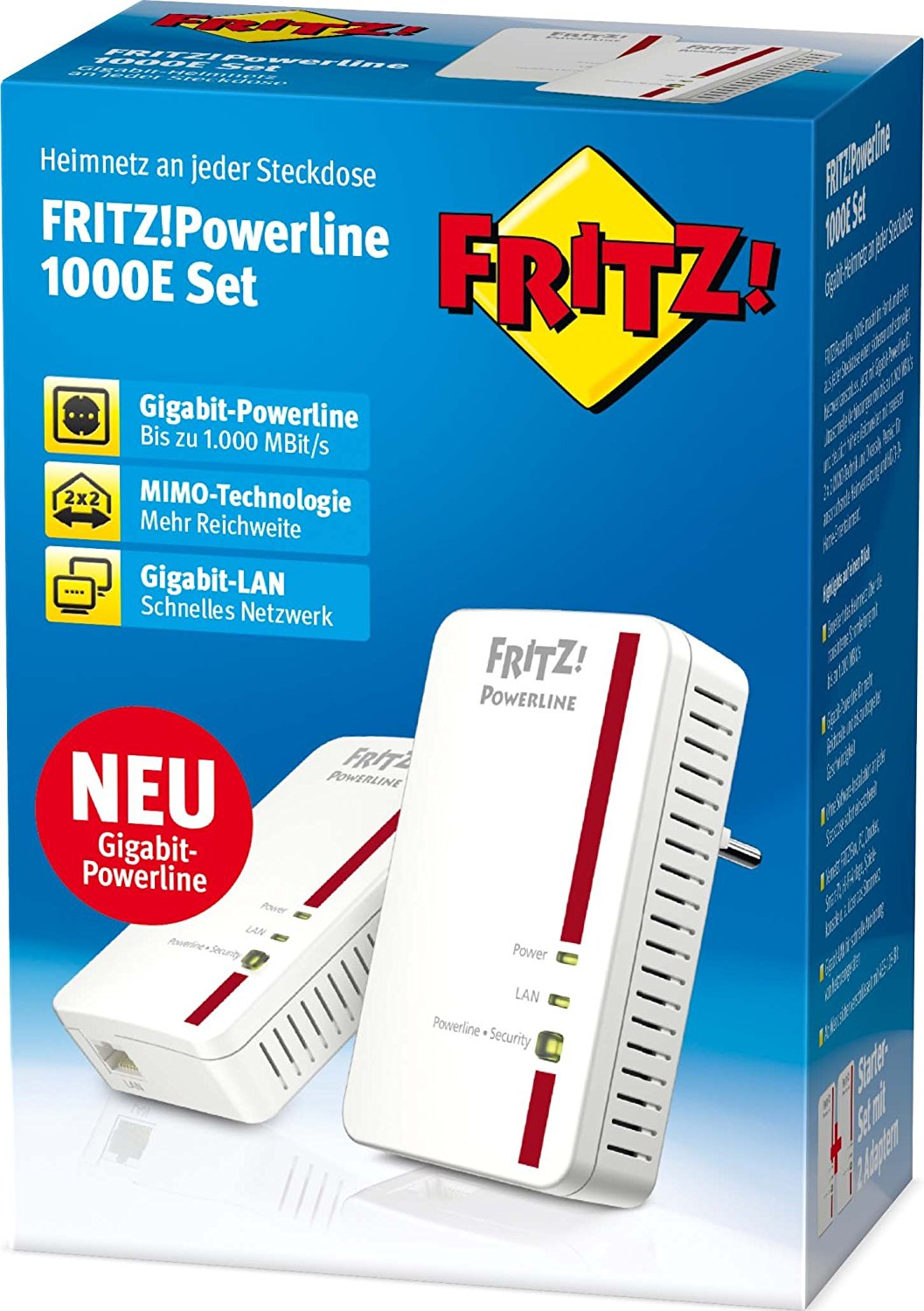 AVM FRITZ!Powerline 1000E Set - Weiß