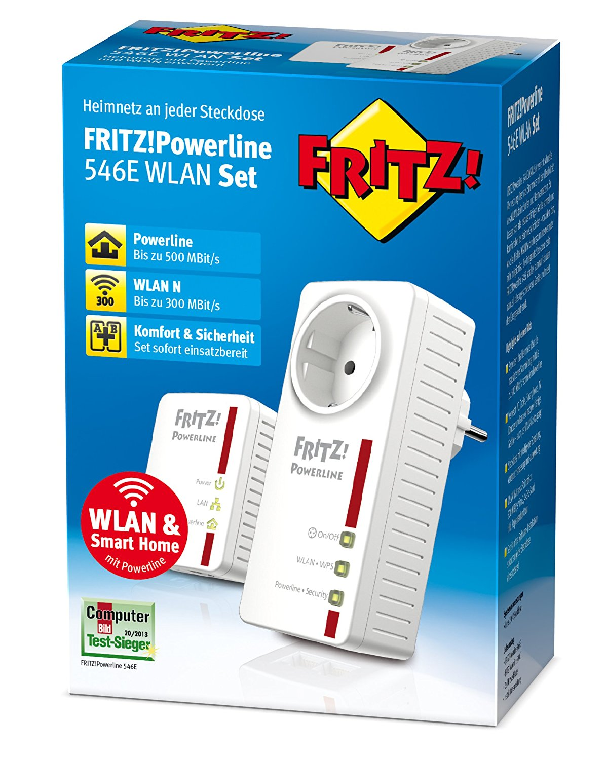 AVM FRITZ!Powerline 546E / 510E WLAN Set