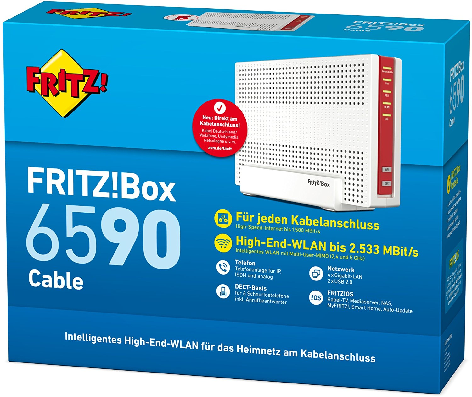 AVM FRITZ!Box 6590 Cable Kabel-WLAN-Router