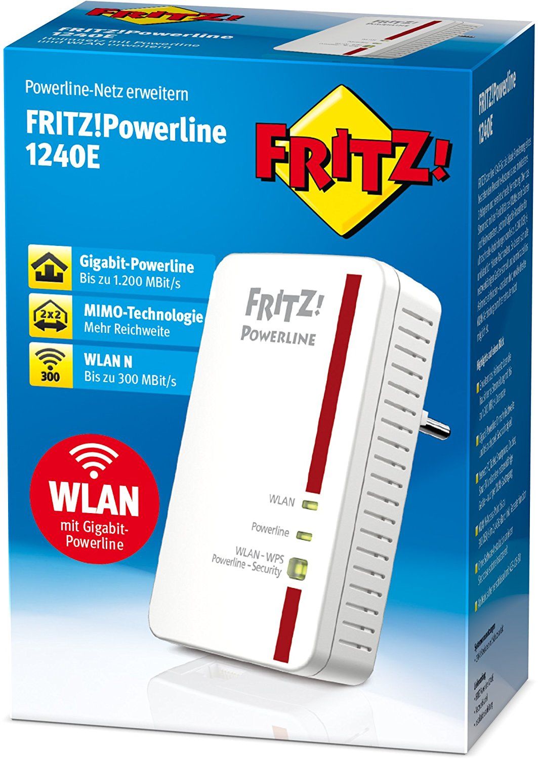 AVM FRITZ!Powerline 1240E WLAN Adapter