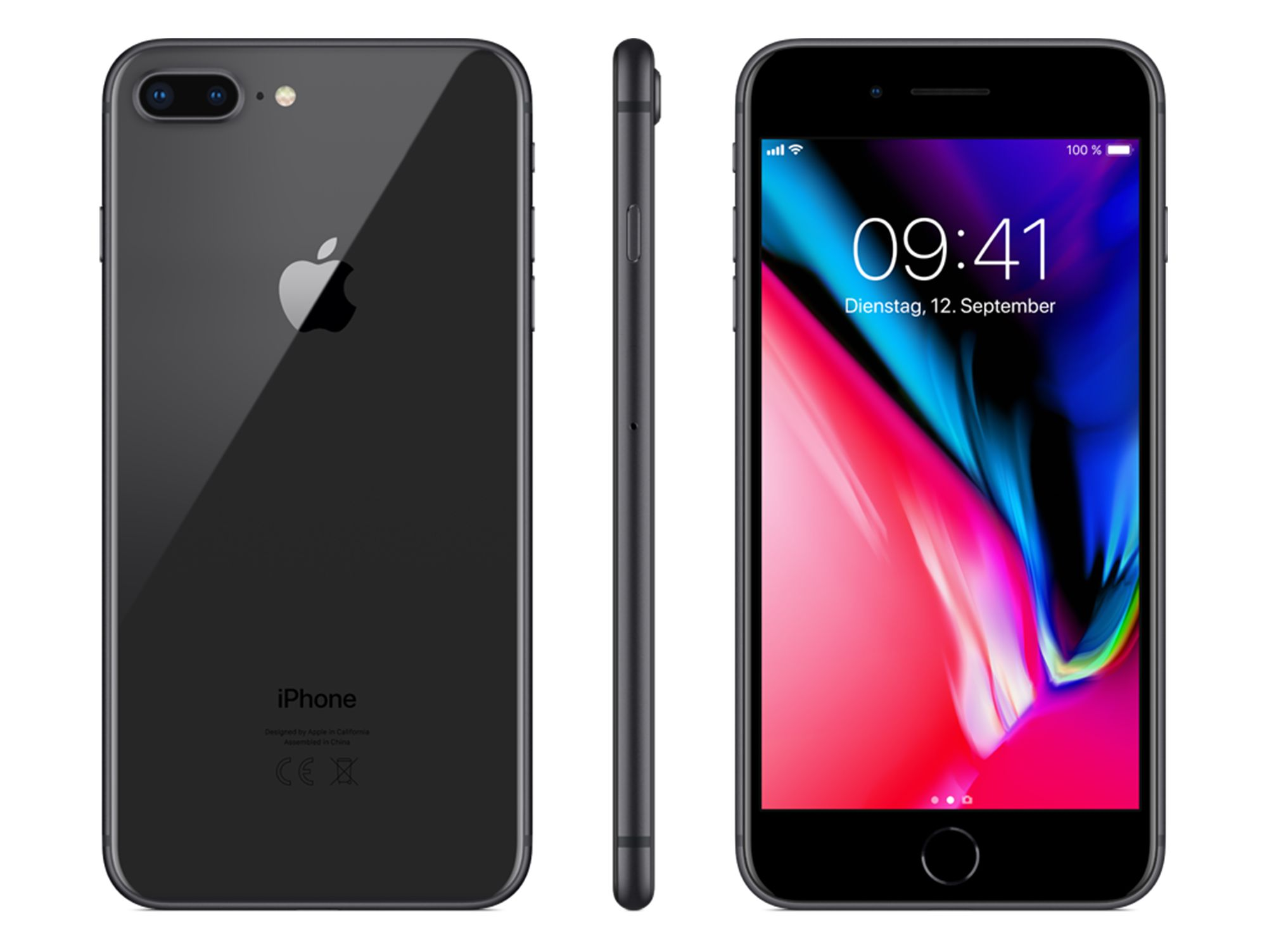 Apple iPhone 8 Plus - 256 GB - Spacegrau