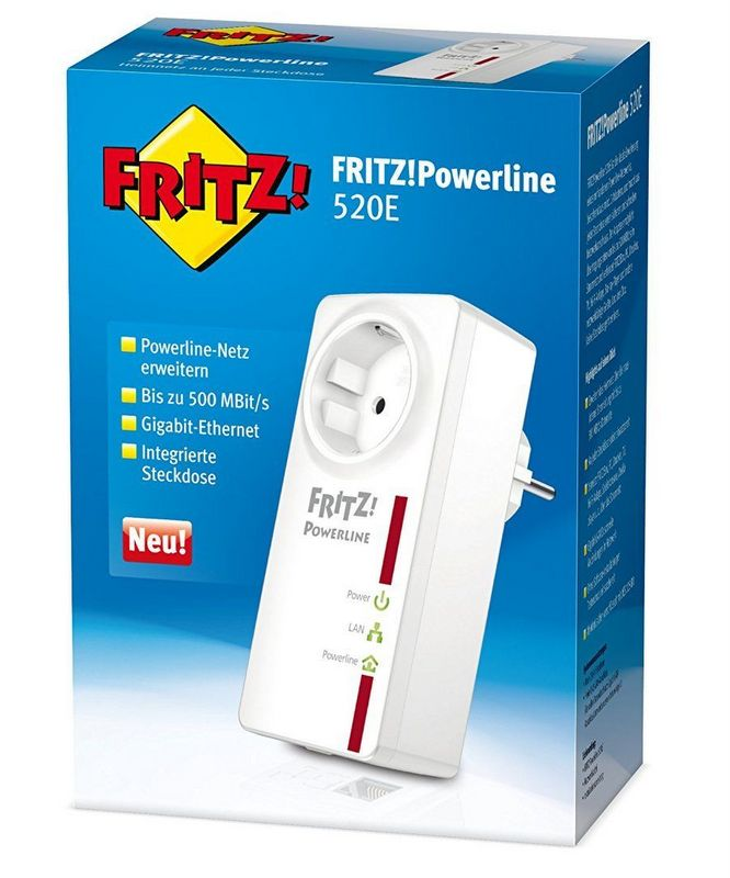 AVM FRITZ!Powerline 520E Einzeladapter