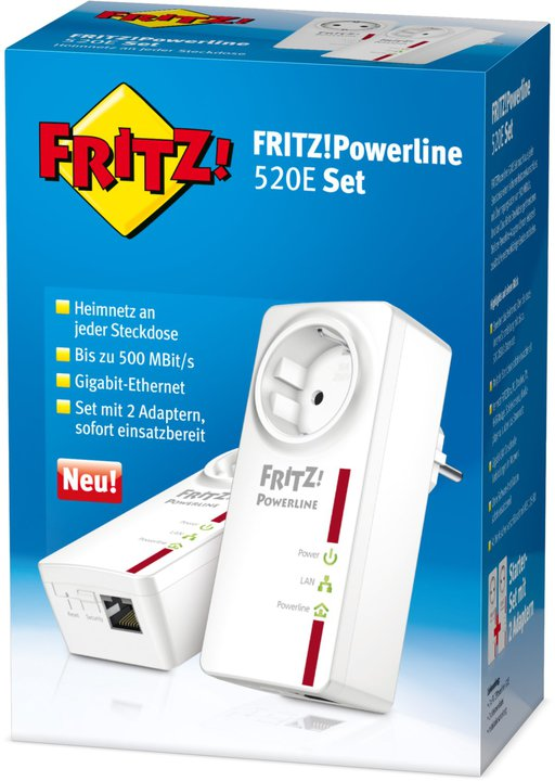 AVM FRITZ!Powerline 520E Set