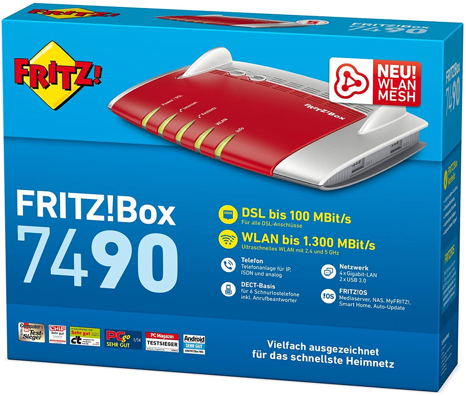 AVM FRITZ!Box 7490 WLAN-Router